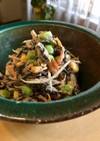 ごぼうとひじきの五色彩りサラダ