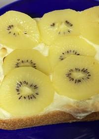 キウイのホットチーズトースト