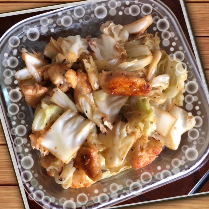 チキンとやわらかキャベツの生姜炒め