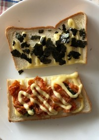 キムチとマヨのトースト