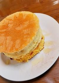 フライパンで作る米粉のスフレパンケーキ