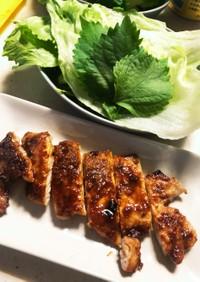 豚カツ用で韓国風グリル焼き