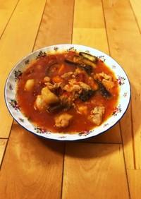 鶏もも肉と野菜のトマト煮込み♪活力鍋♪