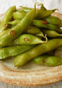 簡単♪枝豆の浅漬け(にんにく風味)