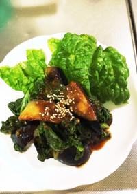 自家製野菜で味噌炒め