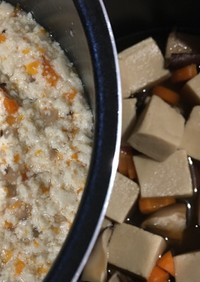 【離乳食中期】高野豆腐の煮物(大人用も)