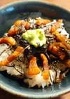 カリカリ塩豚と生わさび丼