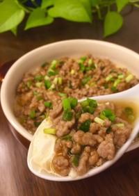 自家製豆腐で♪餡かけスコップ麻婆豆腐