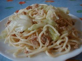 キャベツとツナのさっぱりスパゲティー