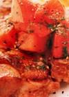 トマトと大葉のチキンステーキ