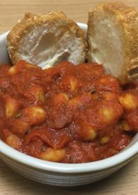 白インゲン豆のトマト煮