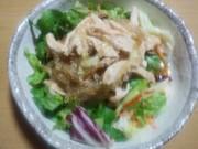 低糖質☆ごま風味の鶏ところてんサラダの写真