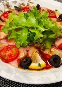 白身魚のカルパッチョ*