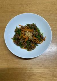 旬のピーマンと牛肉の炒め物(青椒肉絲)
