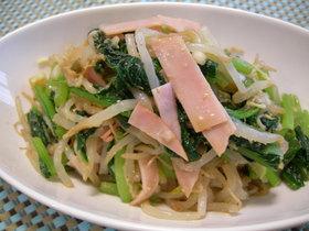 小松菜ともやしの簡単和え物☆中華風