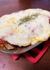 ポテトサラダをリメイク☆茄子チーズ焼き