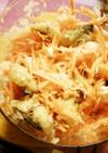 新玉ねぎと人参と鰺フライの酢の物