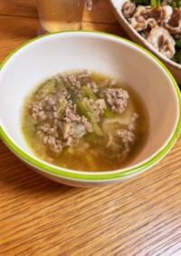 簡単ひき肉ワンタンスープ