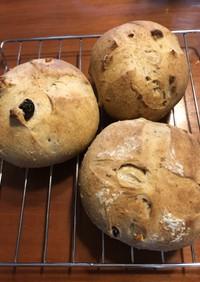 自家製天然酵母ドライフルーツパン