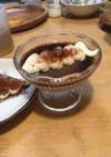 チョコパンナコッタのティラミス風デザート