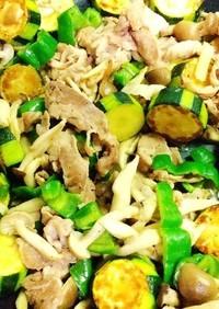 ズッキーニと豚肉の味噌野菜炒め
