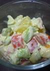キウイとトマトのわさマヨサラダ
