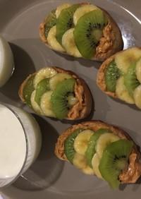 キウイの朝食セット