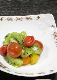バジルキウイサラダ