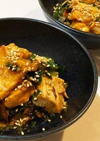 鶏肉とニラのマヨ辛炒め