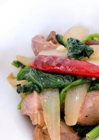 韓国料理 タットンチプ 砂肝炒め
