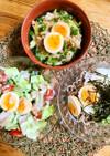 煮卵で麺・丼・サラダ