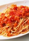 エビツナ野菜のトマトソースパスタ