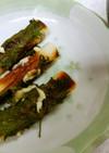 ちくわの大葉チーズ巻き&茄子玉葱の味噌汁