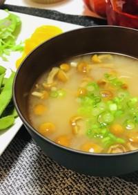 ほっとする簡単なめこと豆腐のお味噌汁