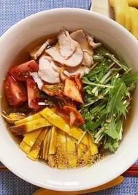 春雨の韓国冷麺