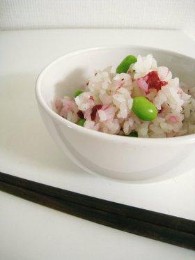 ☆梅と枝豆の混ぜご飯☆