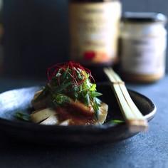 茹で鶏と香味野菜の発酵ABCソース