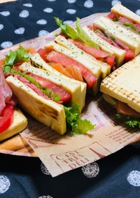 高野豆腐で作る!ヘルシーサンドイッチ