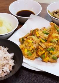 夏野菜のかき揚げ丼(夏越ごはん)