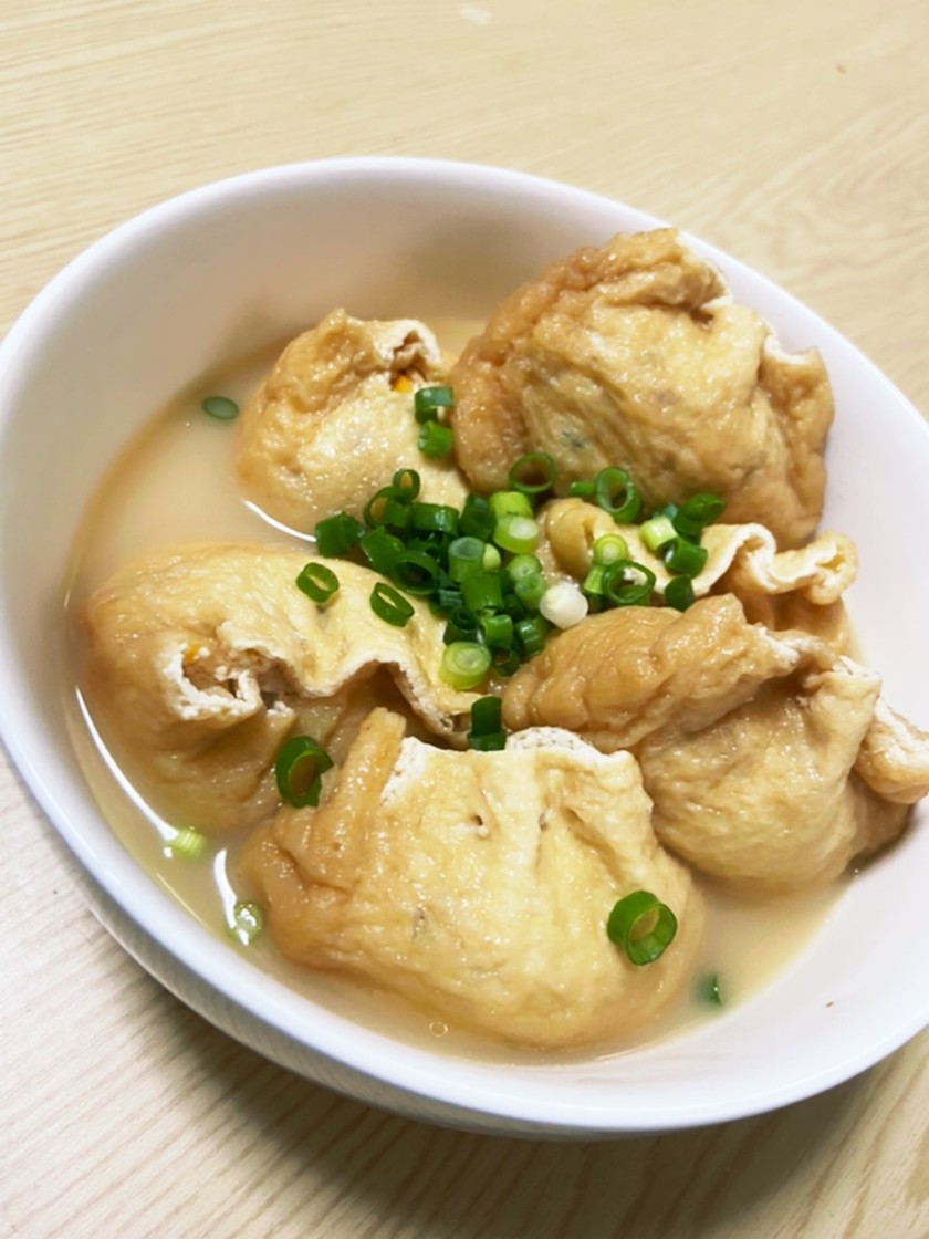 豆腐の油揚げ包み煮