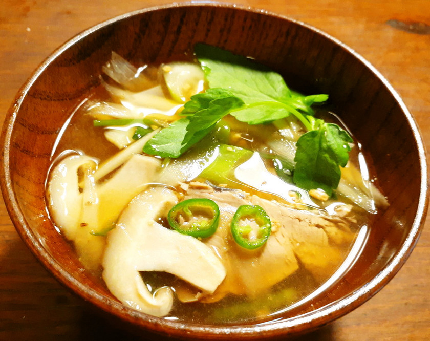 鰹のたたきのお味噌汁