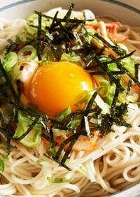 ひとりランチに!キムマヨ素麺