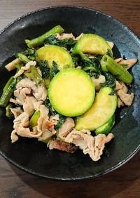 豚肉と野菜の中島菜塩炒め