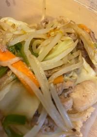 豚こまの味噌野菜炒め