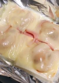 簡単低糖質☆木綿豆腐の明太チーズのピザ風