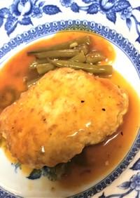 鶏むね肉と海老のすり身ハンバーグ