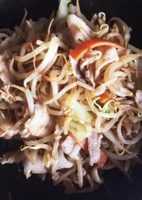焼肉のタレと中華味の肉野菜炒め