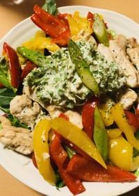 鶏肉短冊ステーキ&2色パプリカのソテー