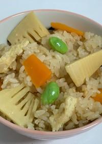 彩り豊かな炊き込みご飯
