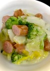 白菜とブロッコリーの豆乳クリーム煮